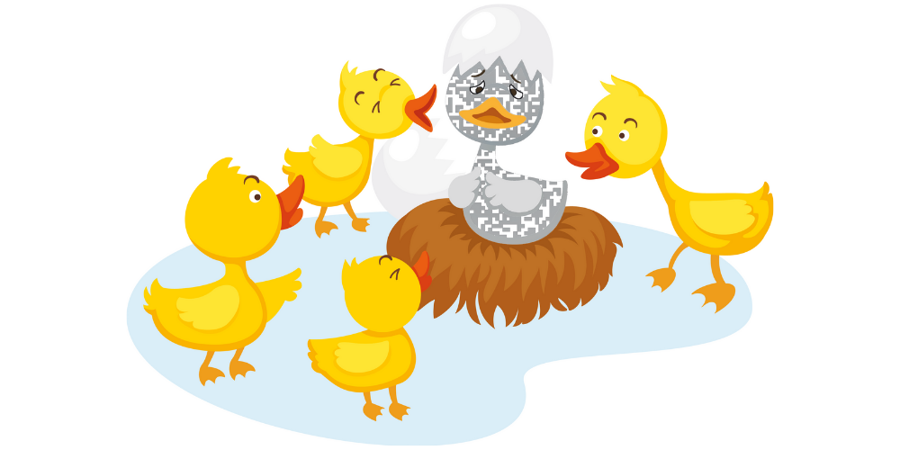 ugly duckling QR code